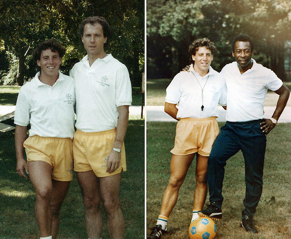 Juan Carlos Duperier with some soccer stars